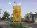 Билборд на Лукойл на кръстовище в Бургас